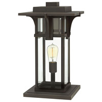 Hinkley 2327OZ Manhattan 1 Light 18 inch Oil Rubbed Bronze Outdoor Post Top, Extra Large