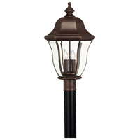 Monticello 3 Light 22 inch Copper Bronze Post Lantern, Post Sold Separately