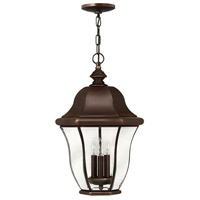 Monticello 3 Light 13 inch Copper Bronze Outdoor Hanging Light