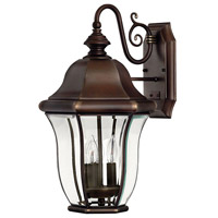 Monticello 3 Light 19 inch Copper Bronze Outdoor Wall Mount