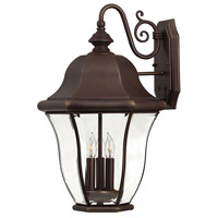 Monticello 3 Light 21 inch Copper Bronze Outdoor Wall Mount