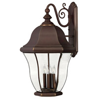 Monticello 4 Light 27 inch Copper Bronze Outdoor Wall Mount