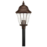 Monticello 4 Light 27 inch Copper Bronze Outdoor Post Mount, Post Sold Separately