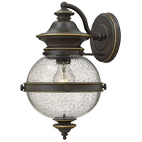 Hinkley 2344OZ Saybrook 1 Light 14 inch Oil Rubbed Bronze Outdoor Wall Mount, Clear Seedy Glass