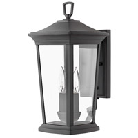 Bromley 2 Light 16 inch Museum Black Outdoor Wall Mount