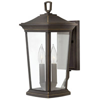 Bromley 2 Light 15 inch Oil Rubbed Bronze Outdoor Wall Mount