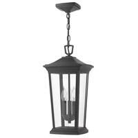 Hinkley 2362MB Bromley 3 Light 10 inch Museum Black Outdoor Hanging Light