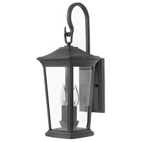 Hinkley 2364MB Bromley 2 Light 20 inch Museum Black Outdoor Wall Mount in Incandescent