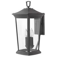 Bromley 3 Light 19 inch Museum Black Outdoor Wall Mount