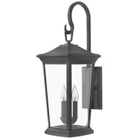Hinkley 2366MB Bromley 3 Light 25 inch Museum Black Outdoor Wall Mount in Incandescent