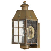 Nantucket 1 Light 14 inch Aged Brass Outdoor Wall Lantern
