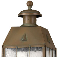 Hinkley 2371AS Nantucket 3 Light 21 inch Aged Brass Outdoor Post Mount, Post Sold Separately alternative photo thumbnail