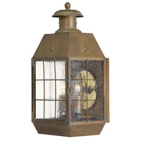 Nantucket 2 Light 17 inch Aged Brass Outdoor Wall Mount