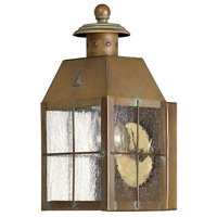 Nantucket 1 Light 10 inch Aged Brass Outdoor Wall Lantern