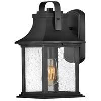 Hinkley 2390TK Grant 1 Light 14 inch Textured Black Outdoor Wall Mount