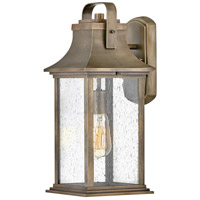 Hinkley 2394BU Grant 1 Light 17 inch Burnished Bronze Outdoor Wall Mount