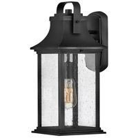 Hinkley 2394TK Grant 1 Light 17 inch Textured Black Outdoor Wall Mount