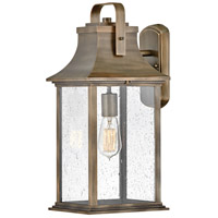 Hinkley 2395BU Grant 1 Light 19 inch Burnished Bronze Outdoor Wall Mount