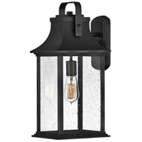 Hinkley 2395TK Grant 1 Light 19 inch Textured Black Outdoor Wall Mount