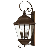 Hinkley Lighting Clifton Park 4 Light Outdoor Wall Lantern in Copper Bronze 2406CB