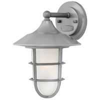 Marina 1 Light 12 inch Hematite Outdoor Wall Mount