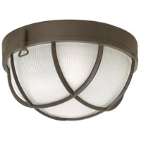 Marina 2 Light 10 inch Bronze Outdoor Flush Mount