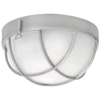 Marina 2 Light 10 inch Hematite Outdoor Flush Mount