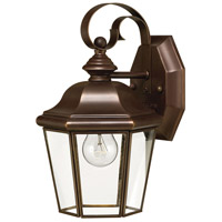 Clifton Park 1 Light 11 inch Copper Bronze Outdoor Wall in LED, Clear Beveled Glass