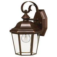 Clifton Park 1 Light 11 inch Copper Bronze Outdoor Wall Lantern in Incandescent