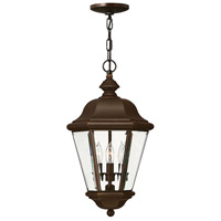Clifton Park 3 Light 11 inch Copper Bronze Outdoor Hanging Lantern