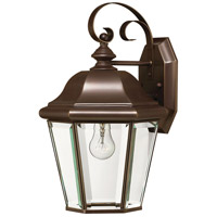 Clifton Park 1 Light 15 inch Copper Bronze Outdoor Wall in LED, Clear Beveled Glass