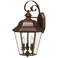 Hinkley 2424CB-LED Clifton Park 1 Light 19 inch Copper Bronze Outdoor Wall in LED, Clear Beveled Glass