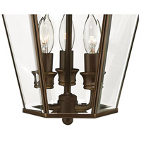 Hinkley 2424CB Clifton Park 3 Light 19 inch Copper Bronze Outdoor Wall Mount in Incandescent alternative photo thumbnail