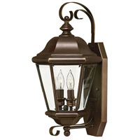 Hinkley Lighting Clifton Park 2 Light Outdoor Wall Lantern in Copper Bronze 2425CB