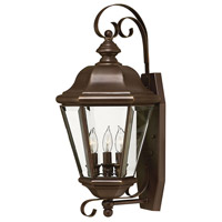 Hinkley 2426CB Clifton Park 3 Light 22 inch Copper Bronze Outdoor Wall Lantern