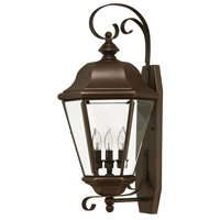 Hinkley 2428CB Clifton Park 3 Light 26 inch Copper Bronze Outdoor Wall Lantern