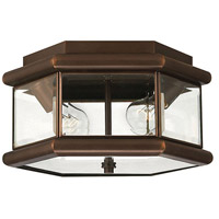 Hinkley Lighting Clifton Park 2 Light Outdoor Flush Lantern in Copper Bronze 2429CB