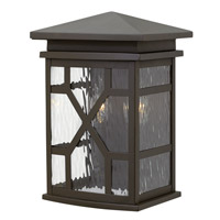 Hinkley 2430OZ Clayton 2 Light 13 inch Oil Rubbed Bronze Outdoor Wall, Clear Water Glass