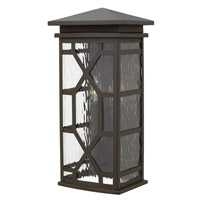 Hinkley 2434OZ Clayton 2 Light 19 inch Oil Rubbed Bronze Outdoor Wall, Clear Water Glass