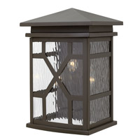 Clayton 3 Light 16 inch Oil Rubbed Bronze Outdoor Wall, Clear Water Glass
