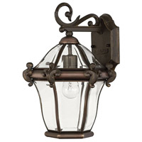 Hinkley Lighting San Clemente 1 Light Outdoor Wall Lantern in Copper Bronze 2440CB