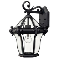 Hinkley 2440MB San Clemente 1 Light 15 inch Museum Black Outdoor Wall Lantern
