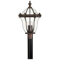 San Clemente 3 Light 23 inch Copper Bronze Post Lantern, Post Sold Separately