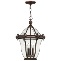 San Clemente 3 Light 14 inch Copper Bronze Outdoor Hanging Lantern