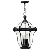 Hinkley Lighting San Clemente 3 Light Outdoor Hanging Lantern in Museum Black 2442MB