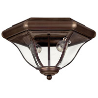 San Clemente 2 Light 14 inch Copper Bronze Outdoor Flush Mount