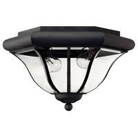 San Clemente 2 Light 14 inch Museum Black Outdoor Flush Mount