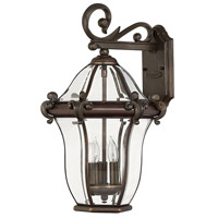Hinkley 2444CB San Clemente 3 Light 20 inch Copper Bronze Outdoor Wall Mount, Small