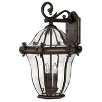Hinkley Lighting San Clemente 3 Light Outdoor Wall Lantern in Copper Bronze 2445CB