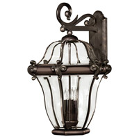 Hinkley Lighting San Clemente 4 Light Outdoor Wall Lantern in Copper Bronze 2446CB